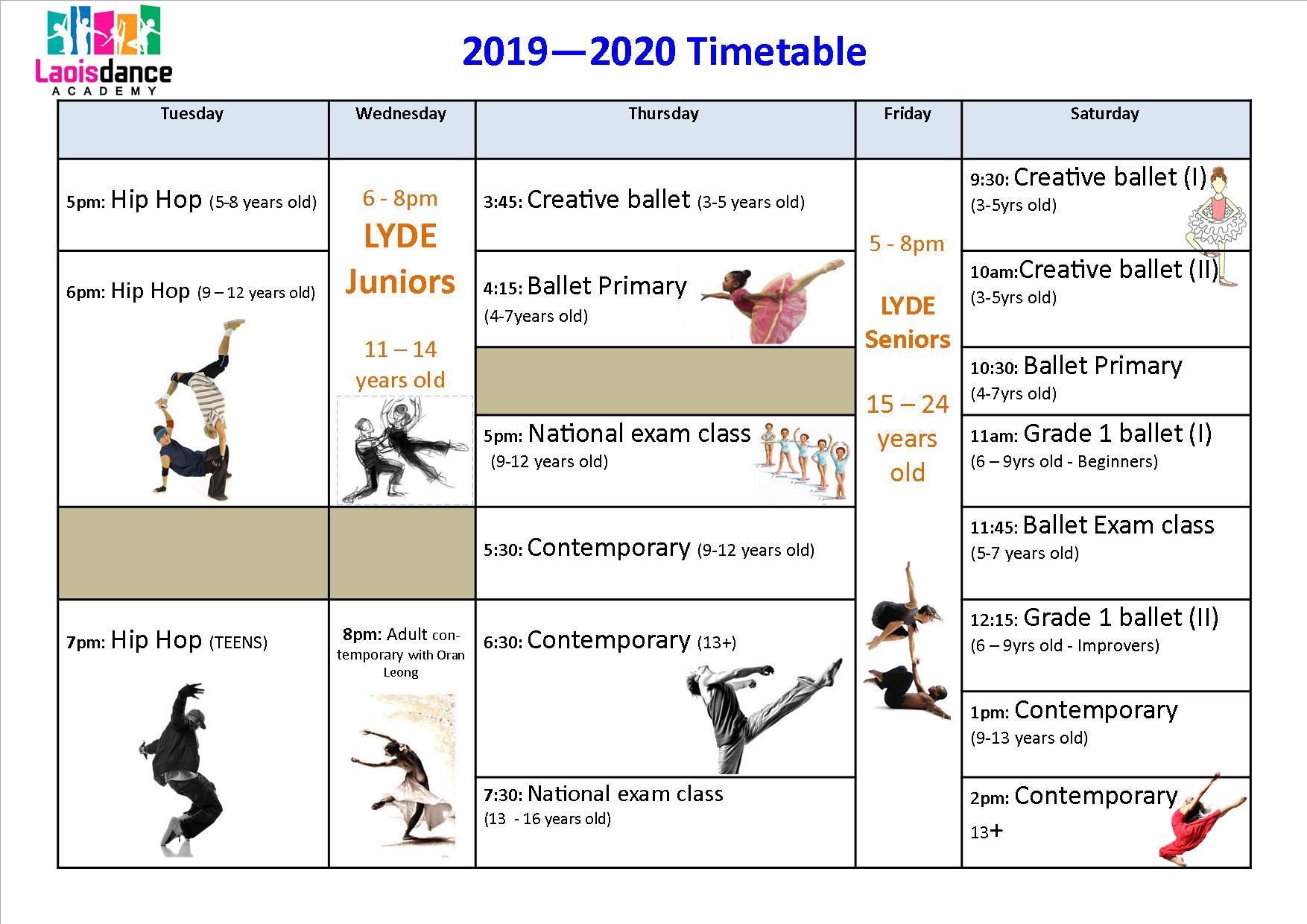 Classes Details – Laois Dance Academy